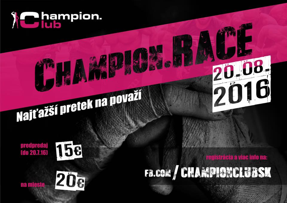 champion.race 2016 plagát